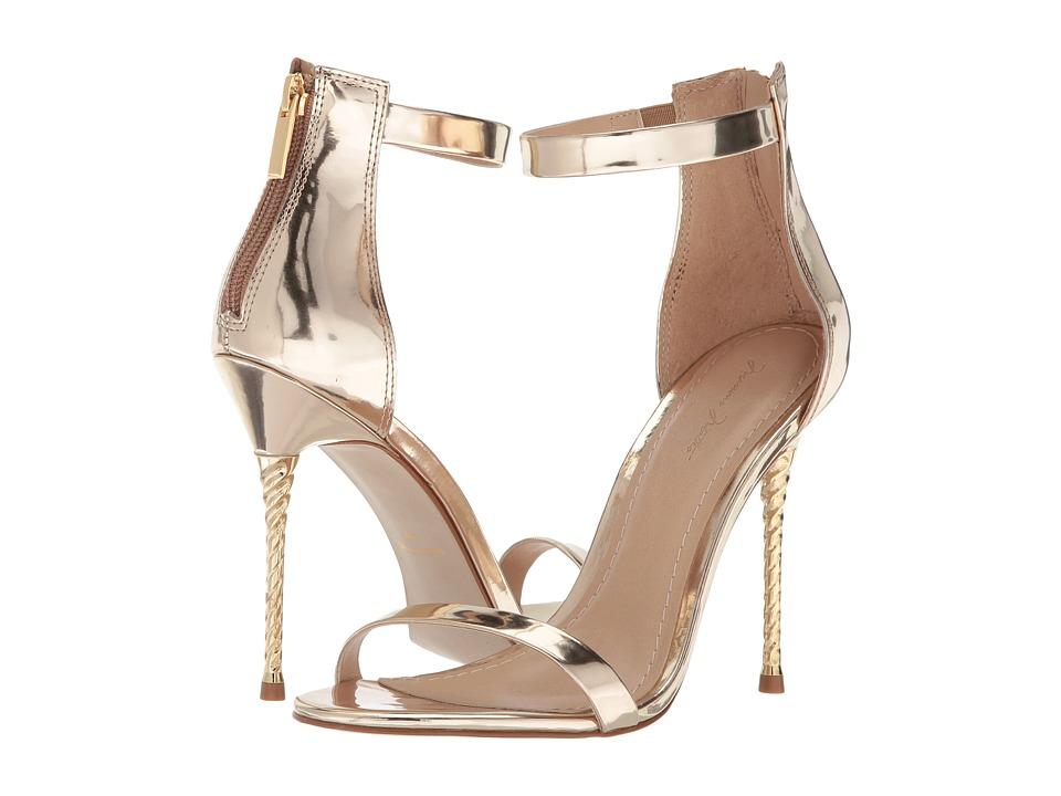 Massimo Matteo Open Toe Unicorn Heel (Light Gold) High Heels