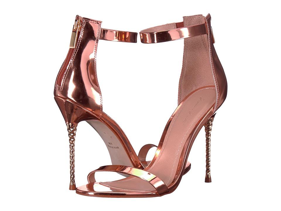 Massimo Matteo Open Toe Unicorn Heel (Light Rose) High Heels
