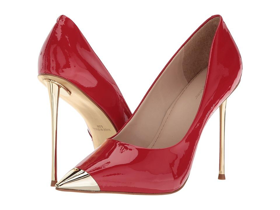 Massimo Matteo Metallic Cap Toe Heel (Passione Patent) High Heels