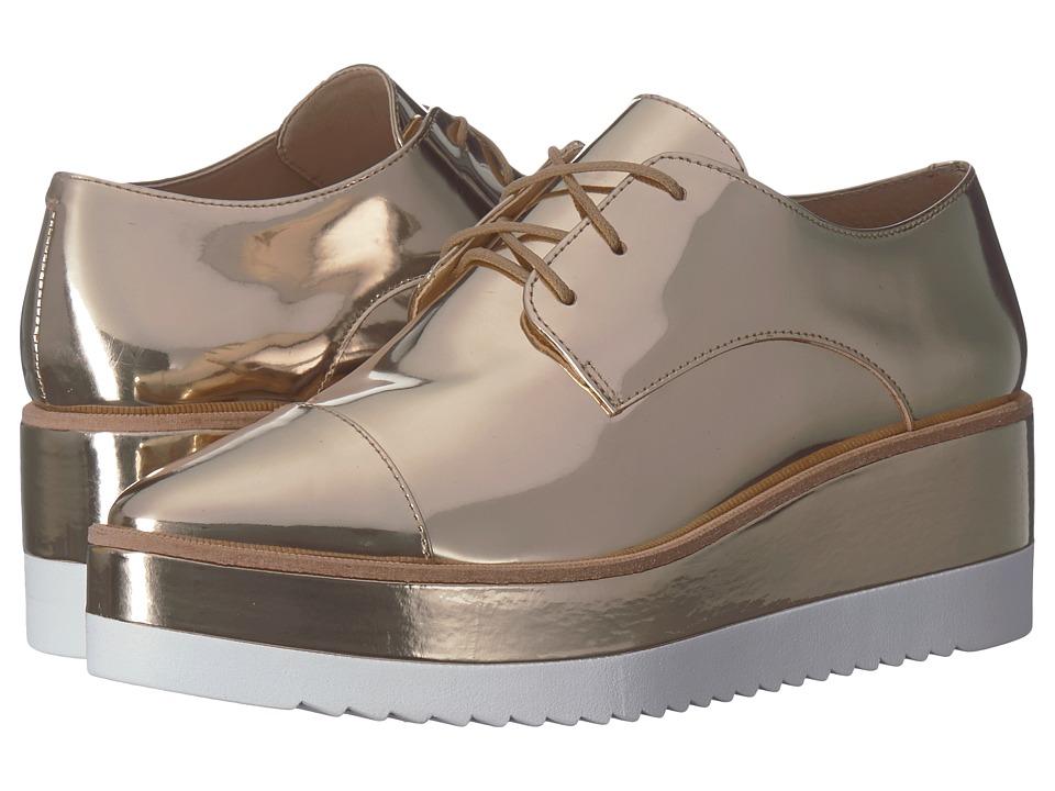 Massimo Matteo Platform Sneaker (Light Gold) Women