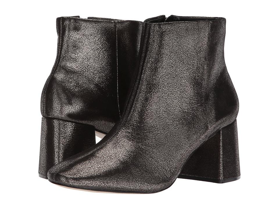Massimo Matteo Cracked Block Heel Bootie (Pewter) Women