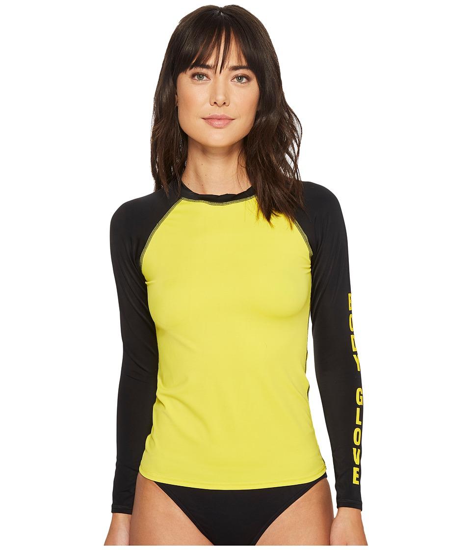 Body Glove - 80s Throwback Push It Rashguard (Yellow) Womens Swimwear