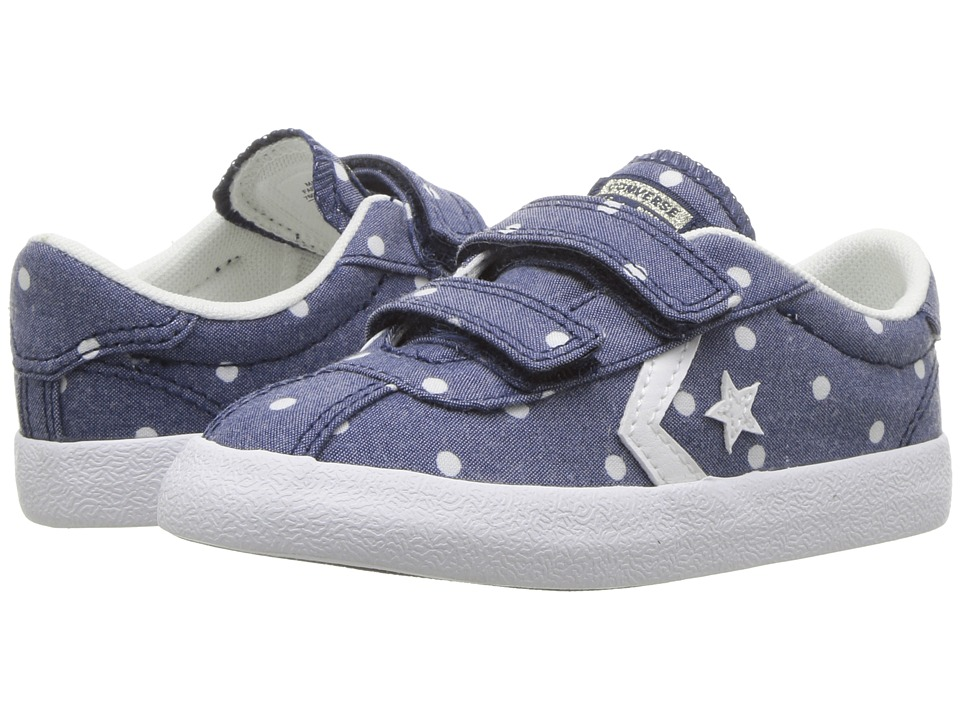 Converse Kids Breakpoint 2V Dots Ox (Infant/Toddler) (Navy/White/White) Girls Shoes