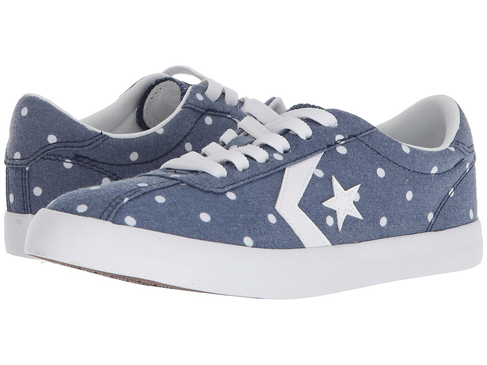 Converse Kids - Breakpoint Dots Ox (Little Kid/Big Kid) (Navy/White/White) Girls Shoes