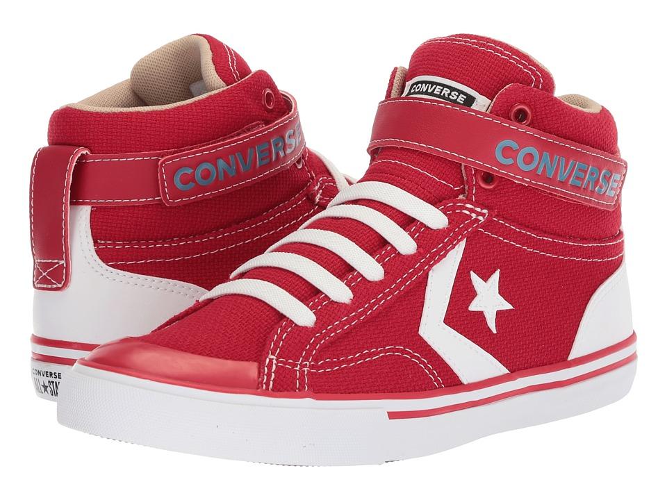 Converse Kids - Pro Blaze Strap Hi (Little Kid/Big Kid) (Gym Red/Vintage Khaki/White) Kids Shoes