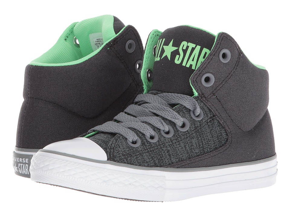 Converse Kids Chuck Taylor(r) All Star(r) High Street Heather Textile Fundamentals Hi (Little Kid/Big Kid) (Almost Black/Cool Grey/White) Boys Shoes