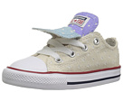 Converse Kids Chuck Taylor(r) All Star(r) Double Tongue Star Perf Canvas Ox (Infant/Toddler)