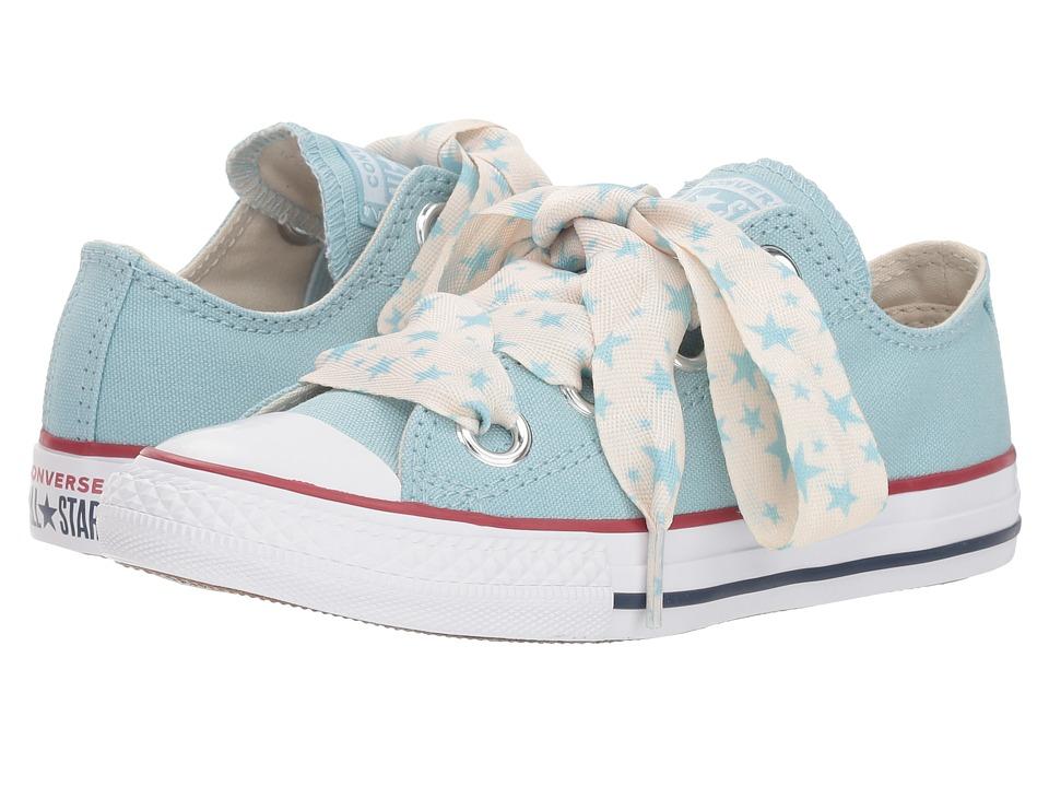 Converse Kids Chuck Taylor(r) All Star(r) Star Big Eyelets Ox (Little Kid/Big Kid) (Ocean Bliss/Driftwood/White) Girls Shoes
