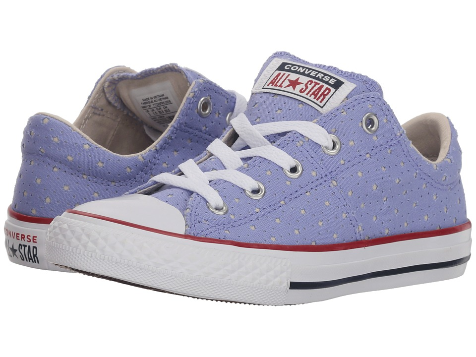Converse Kids Chuck Taylor(r) All Star(r) Madison Star Perf Canvas Ox (Little Kid/Big Kid) (Twilight Pulse/Driftwood/White) Girls Shoes
