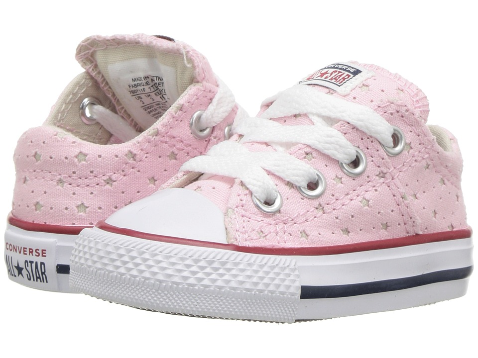 Converse Kids Chuck Taylor(r) All Star(r) Madison Star Perf Canvas Ox (Infant/Toddler) (Cherry Blossom/Driftwood/White) Girls Shoes