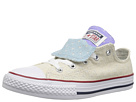 Converse Kids Chuck Taylor(r) All Star(r) Double Tongue Star Perf Canvas Ox (Little Kid/Big Kid)