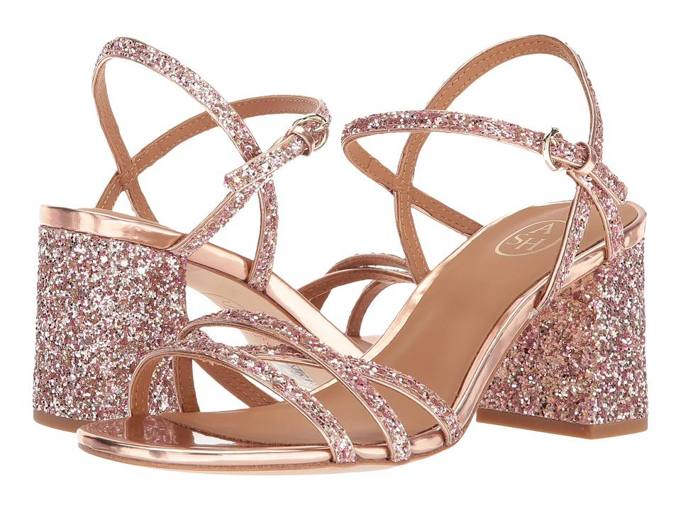 ASH Sparkle (Blush/Rose Gold Glitter/Mirror PU) Women