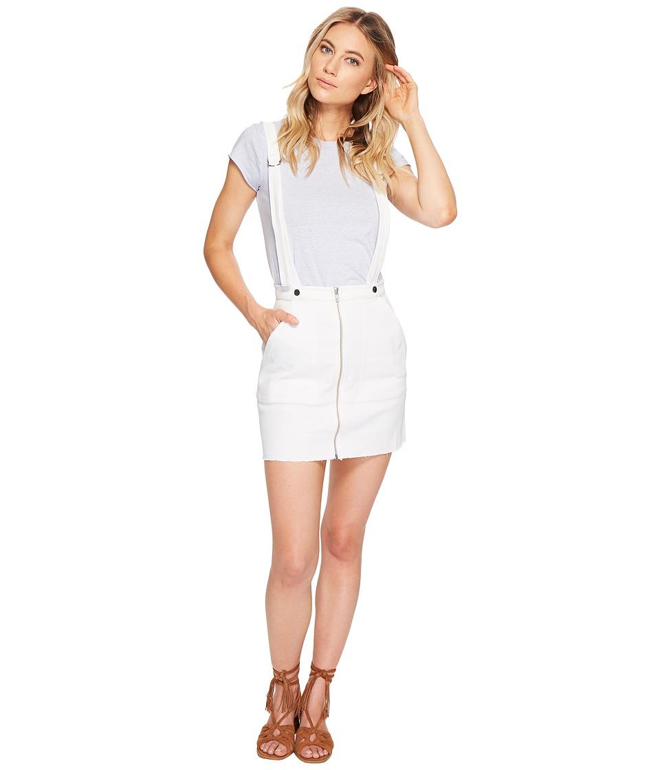 For Love and Lemons - Monika Overalls Mini Skirt (White Denim) Womens Skirt