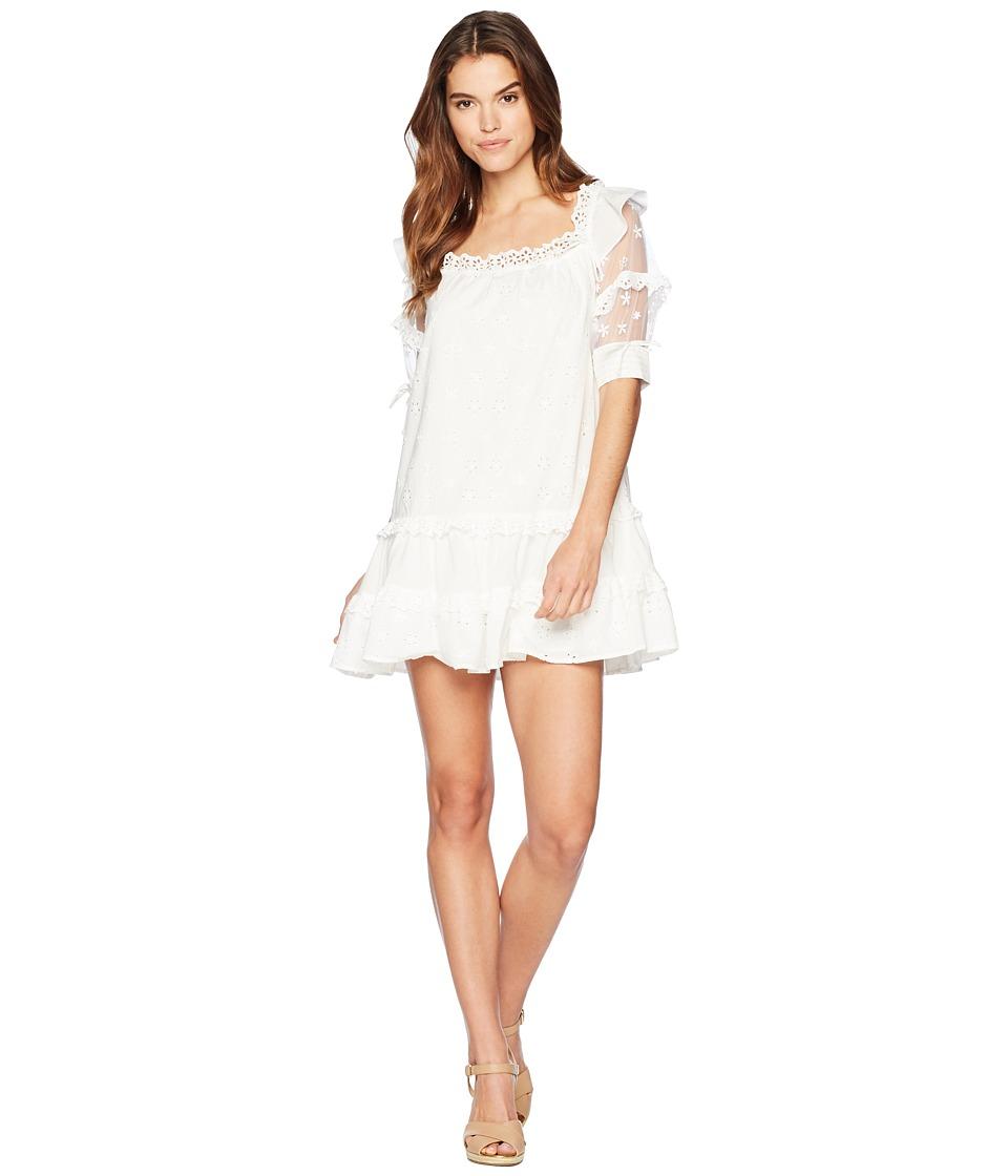 For Love and Lemons - Hermosa Eyelet Swing Dress (White) ...