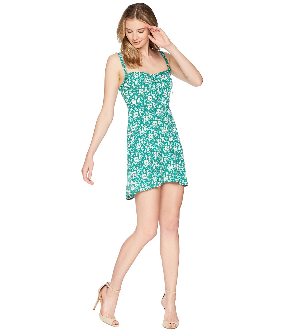 For Love and Lemons - Zamira Button Front Tank Dress (Kelly) Womens Dress