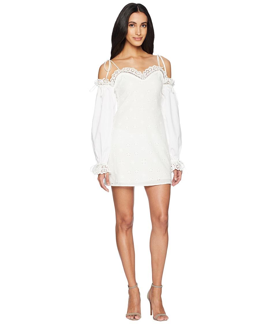 For Love and Lemons - Vera Eyelet Mini Dress (White) Wome...