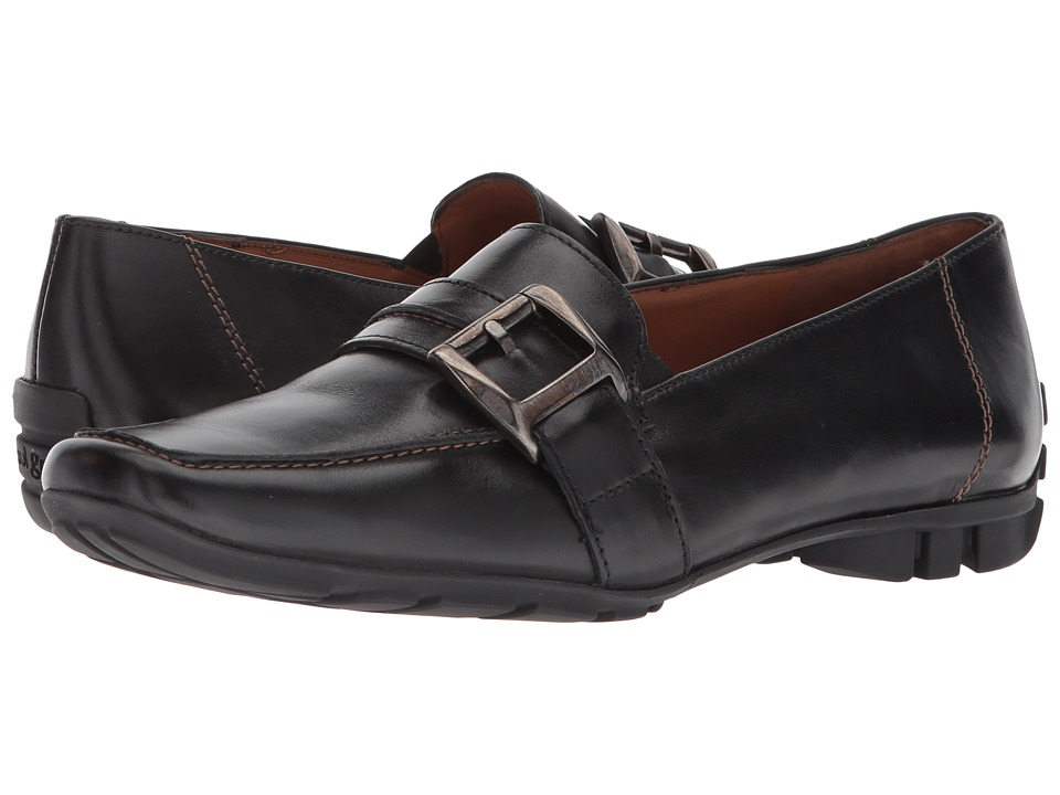 Paul Green - Neutron Loafer (Black Leather) Womens Slip on  Shoes