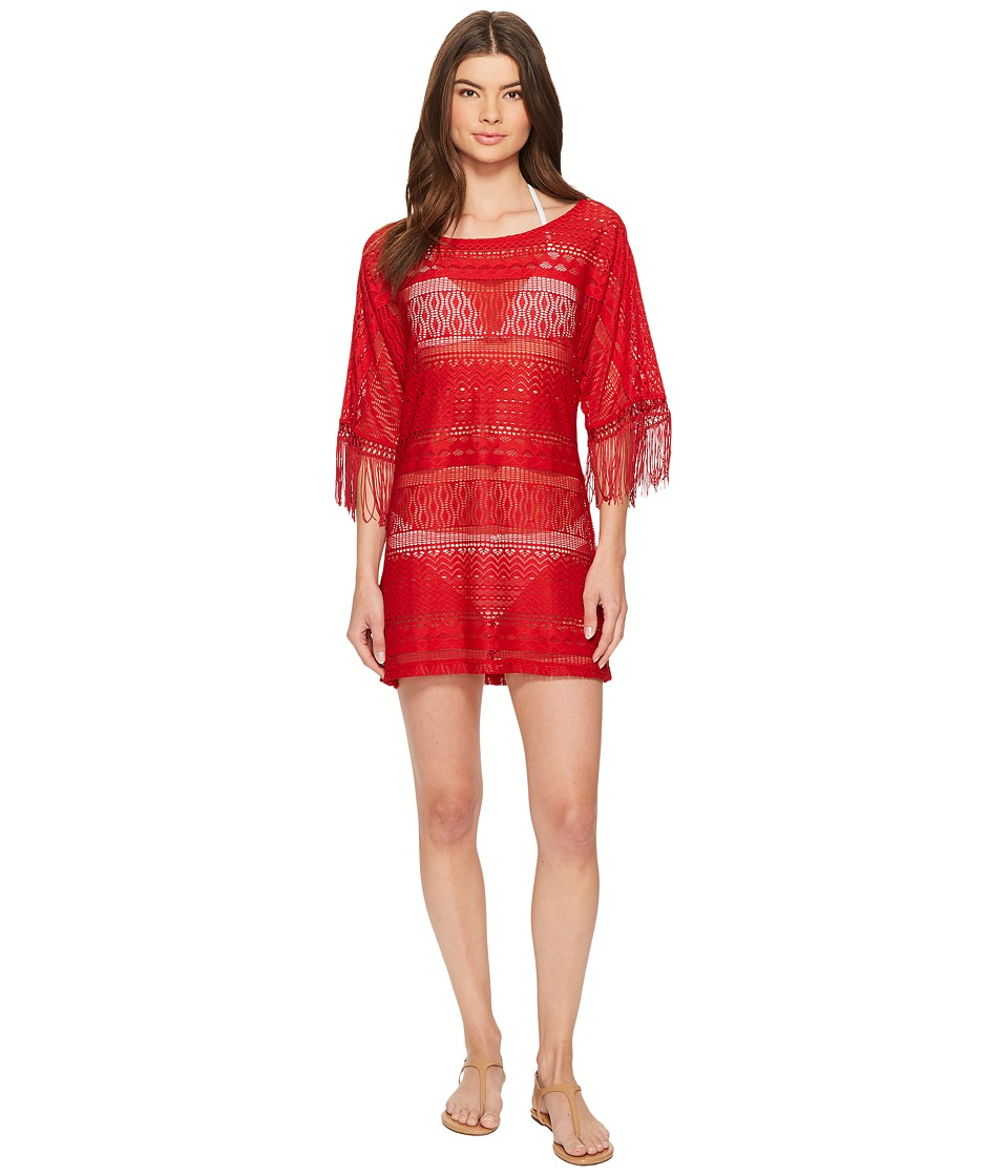 Kenneth Cole Tough Luxe Boat Neck Tunic Cover-Up (Spice) Women
