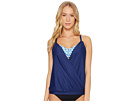 Next by Athena Spice Market Surplice Double Up Tankini Top