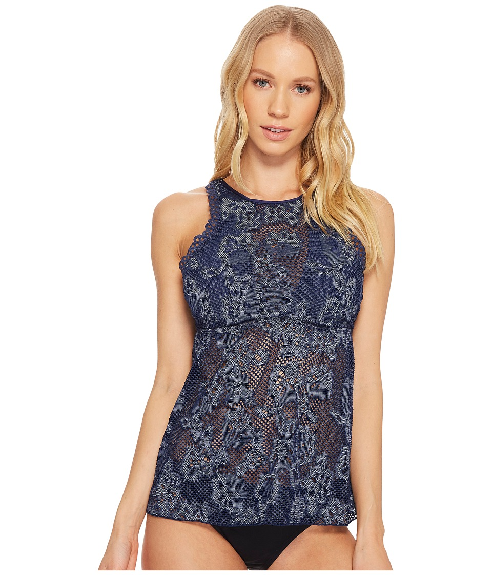 Athena Cote d'Azur High Neck Fly-Away Tankini (Navy)