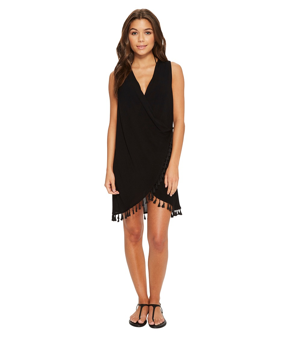 Athena Bazaar Beauty Wrap Dress Cover-Up (Black) Women