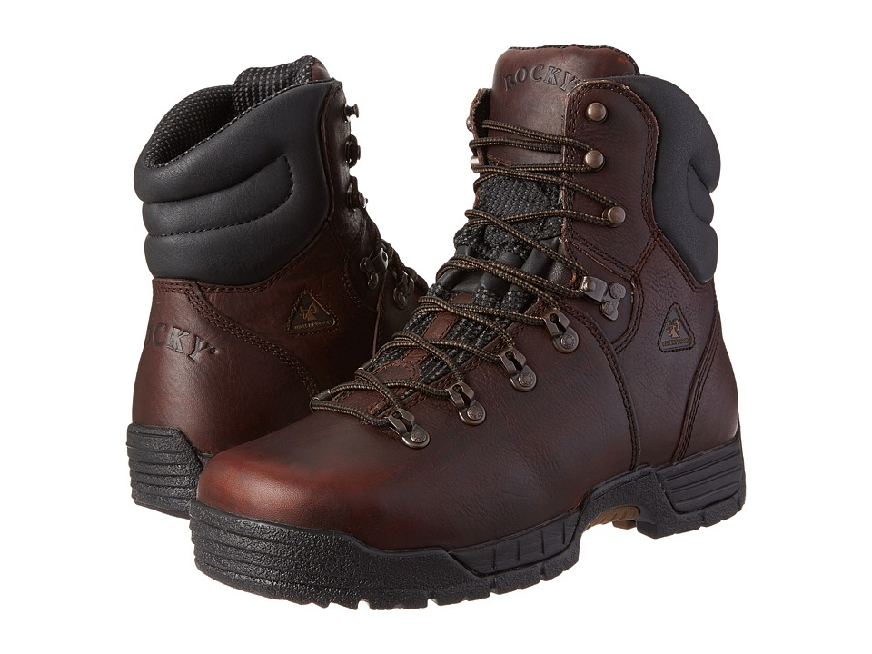 Rocky 8 Mobilite Steel Toe WP Wide Toe (Dark Brown) Men's...