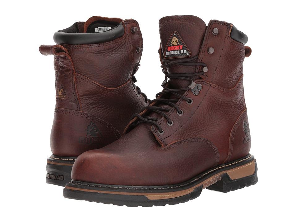 Rocky 8 Ironclad Steel Toe WP (Brown) Men's Shoes