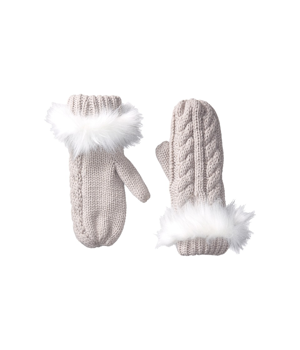 Michael Stars Cable Knit Mitten (Tinsel) Dress Gloves