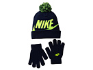 Nike Kids Swoosh Pom Beanie Gloves Set (Little Kids/Big Kids)