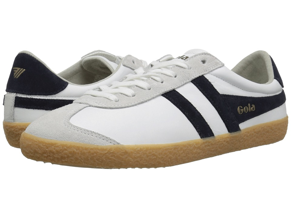 GOLA Specialist Leather (White/Navy/Gum) Men's Shoes