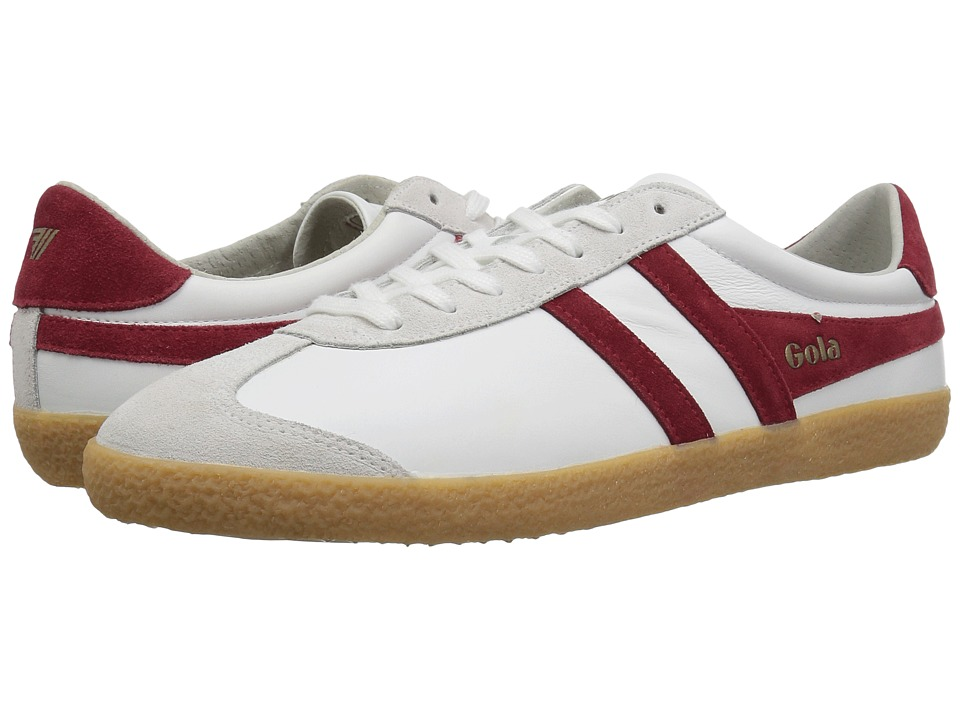 GOLA Specialist Leather (White/Deep Red/Gum) Men's Shoes