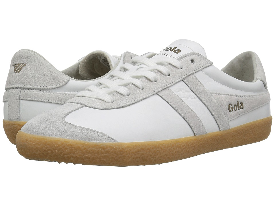 GOLA Specialist Leather (White/White/Gum) Men's Shoes