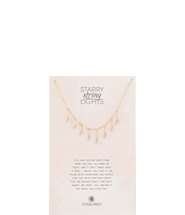 8 Dripping Crystal Necklace  Gold