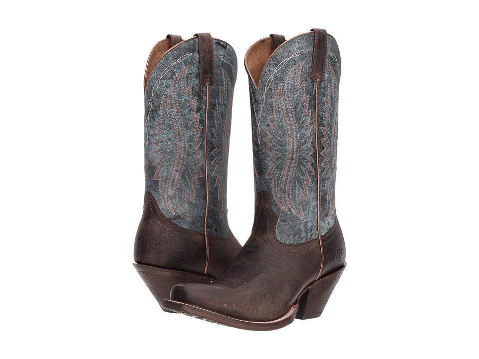 Ariat Circuit Salem (Buckaroo Brown/Denim Blue) Cowboy Boots