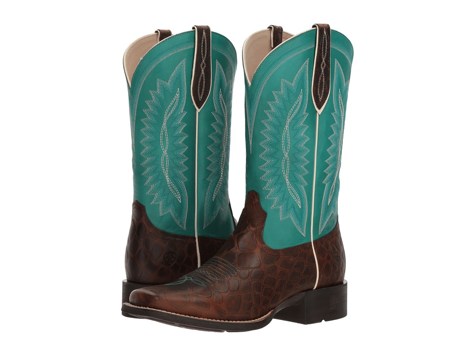 Ariat Quickdraw Legacy (Brown Rowdy Croc Print/Naturally ...