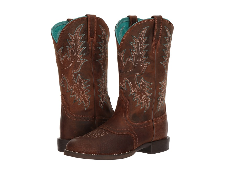 Ariat Heritage Stockman (Sassy Brown) Cowboy Boots