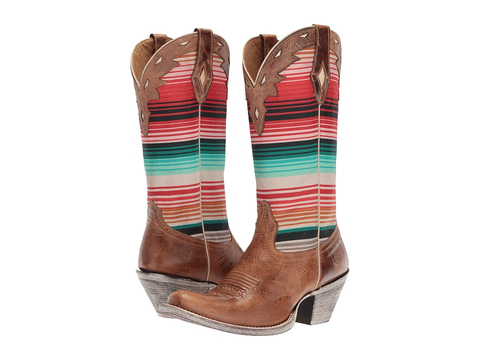 Ariat Circuit Cheyenne (Crackled Tan/Southwestern Serape)...
