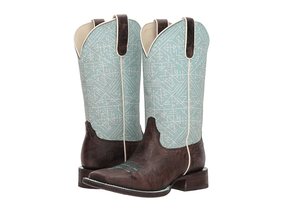 Ariat Circuit Savanna (Chief Chocolate/Blue Tribal Print) Cowboy Boots