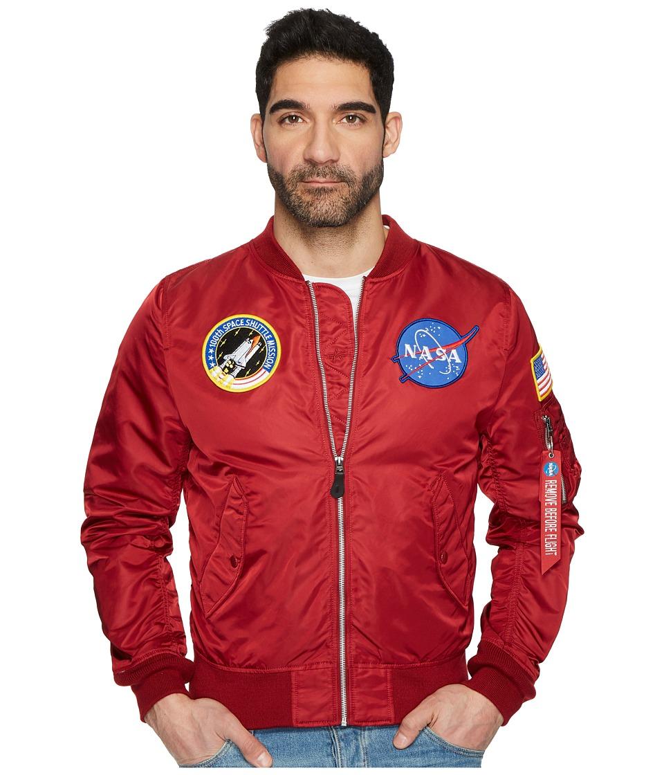 Alpha Industries - L-2B Nasa Jacket (Commander Red) Mens Coat