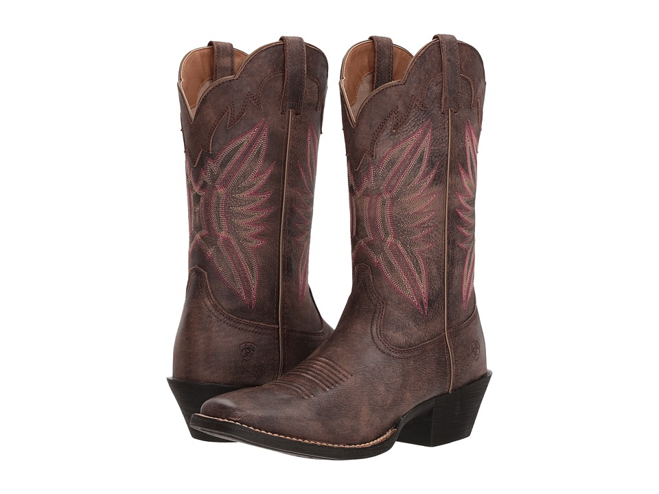 Ariat Round Up Outfitter (Tack Room Chocolate) Cowboy Boots