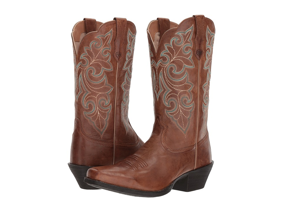 Ariat Round Up Square Toe (Wood) Cowboy Boots