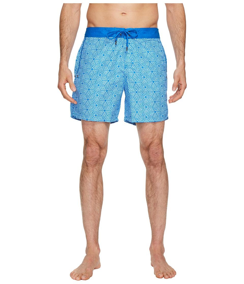 Mr. Swim Cubed Chuck Swim Trunks (Blue) Men