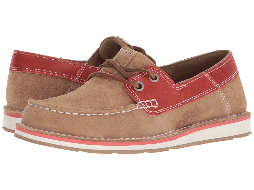 Ariat Cruiser Castaway (Camel/Coral) Slip-On Shoes