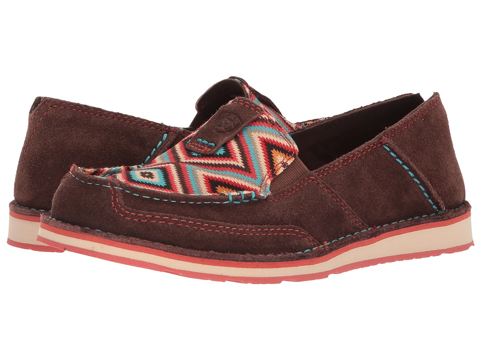 Ariat Cruiser (Bean Suede/Pastel Aztec Print) Slip-On Shoes