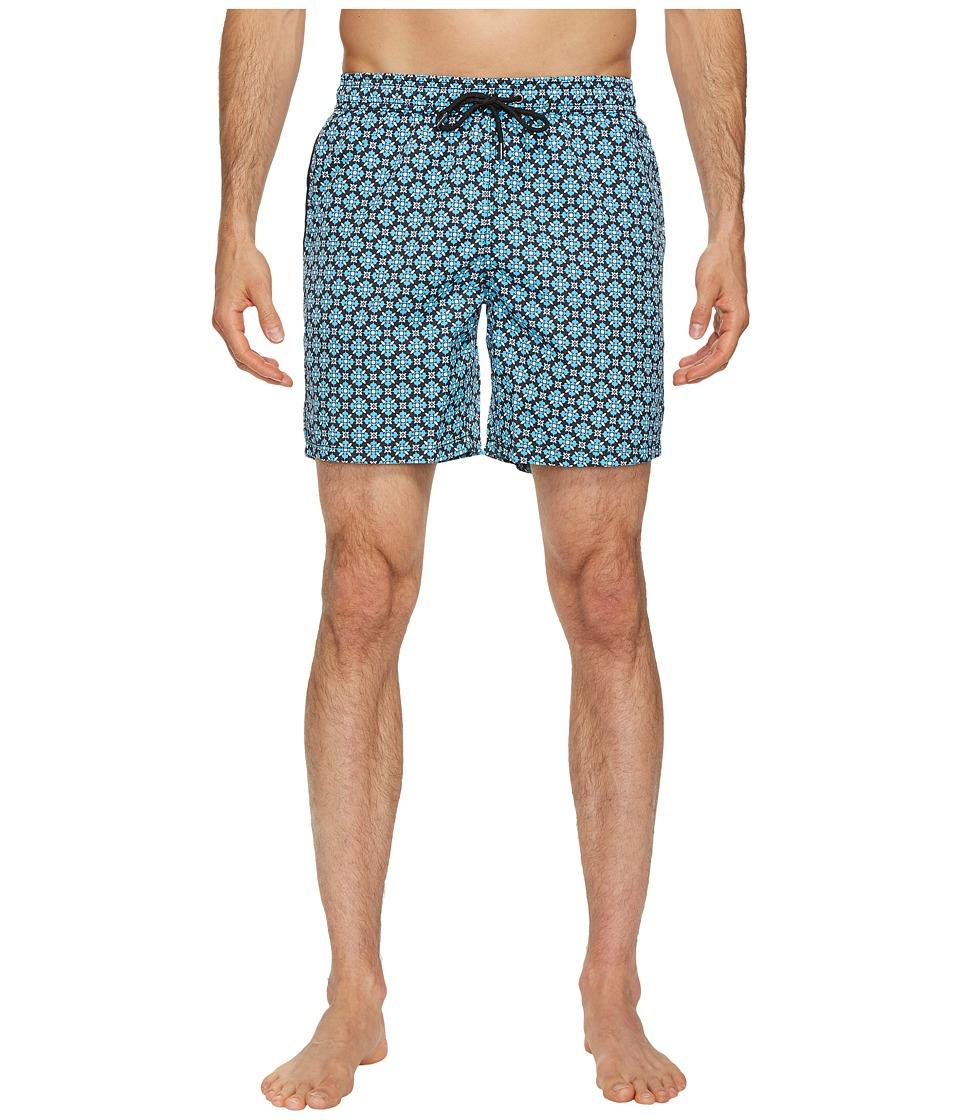 Mr. Swim Mosaic Dale Swim Trunks (Turquoise/Black) Men