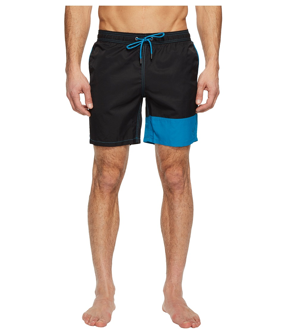 Mr. Swim Color Block Dale Swim Trunks (Black) Men