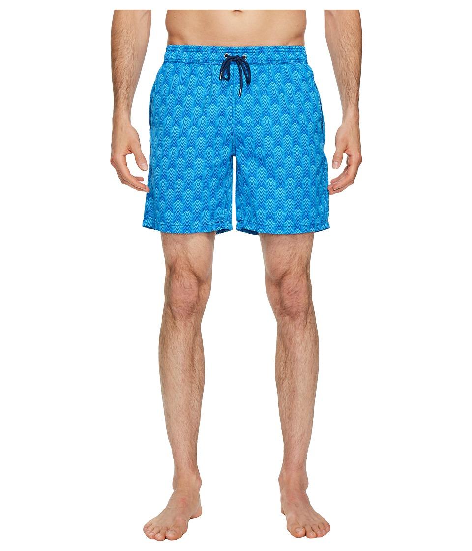 Mr. Swim Deco Dale Swim Trunks (Aqua) Men