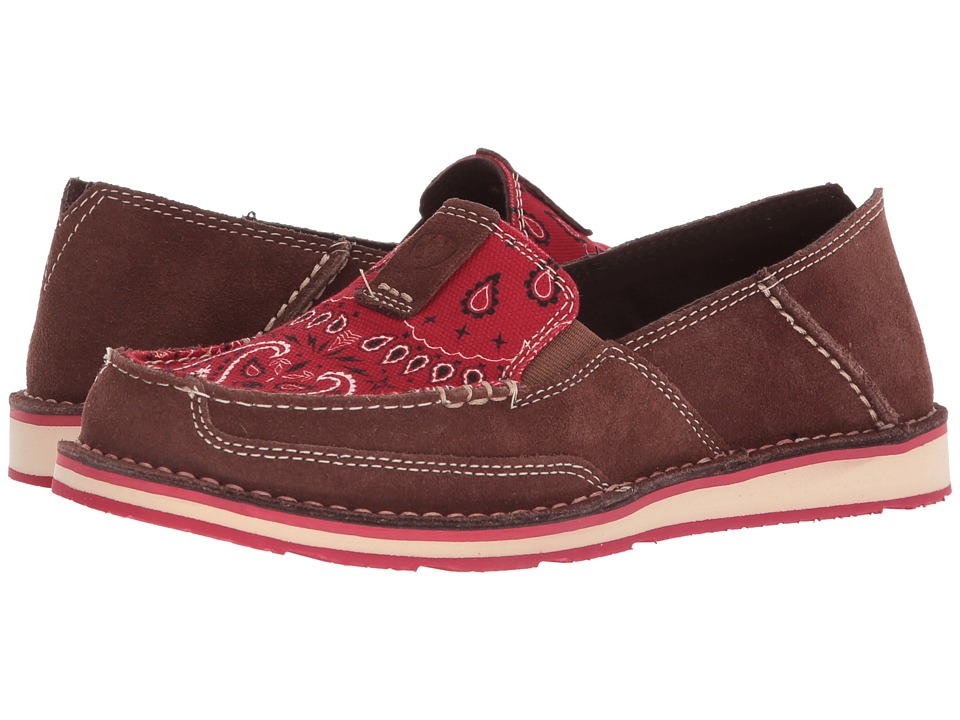 Ariat Cruiser (Palm Brown/Red Paisley Print) Slip-On Shoes