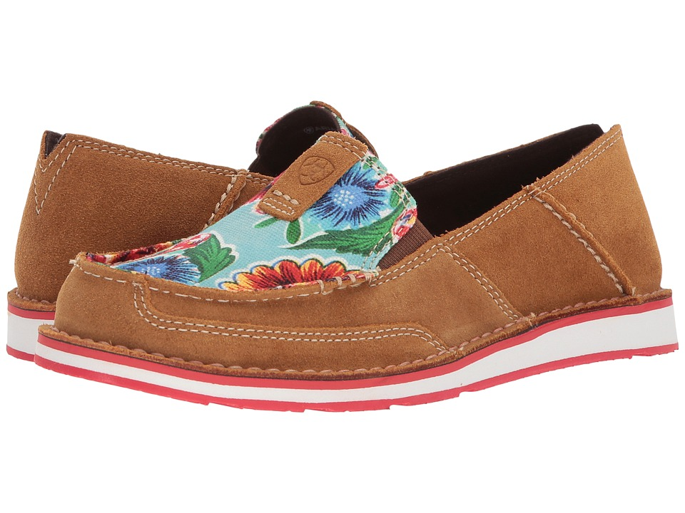 Ariat Cruiser (Sunburn Brown/Turquoise Oil Cloth Print) Slip-On Shoes