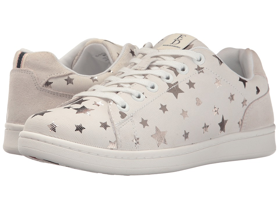 ED Ellen DeGeneres Chapastar (Pure White/Gold Stars Millierge Star/Millierge Star) Women's Shoes